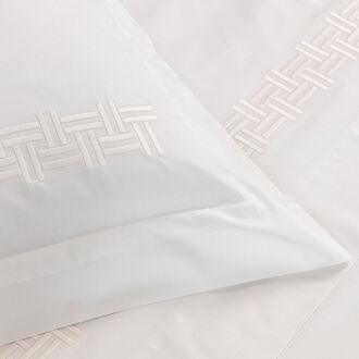 Basket Weave Embroidered Euro Sham