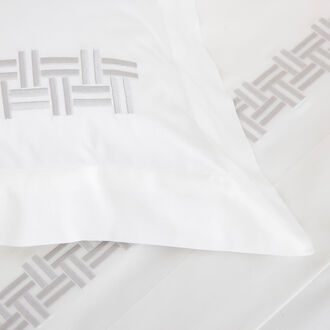 Basket Weave Embroidery Euro Sham
