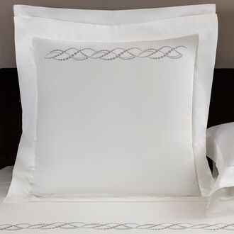 Pearls Embroidered Euro Sham